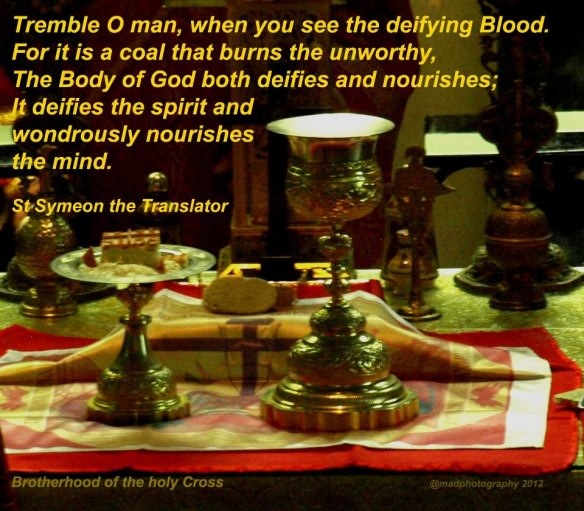 St Symeon on the Blood and Body of Christ our Lord