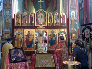At Saint Nicholas Cathedral on the feast of St Nicholas the Wonderworker, bishop of Myra and Orthodox opponent of Arius.