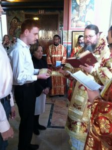 My chrismation took place on Sunday, December 4, 2011 at St Nicholas Cathedral in Washington.