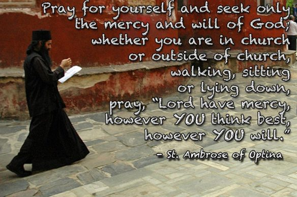 Wisdom on prayer from St Ambrose of Optina