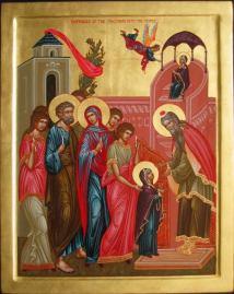 Entrance of the Theotokos icon