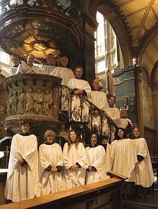 Members of Cappella Nicolai in St Nicholas Church, Amsterdam.