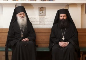 Father Avraamy (Neyman), left, and Father Raphael (Pavouris), right. These exceptionally kind men are pillars of the Orthodox communities in Scotland.