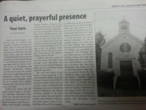 Here is a print version of the article as it appeared in the January 31 edition of the Village Times Herald.