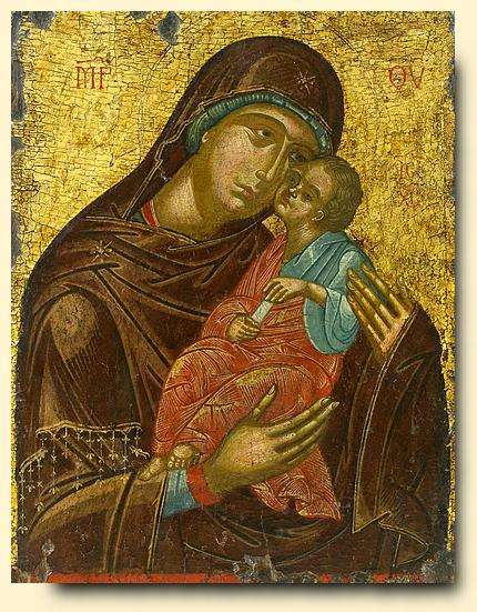 Profound theological truths expressed in Glykophilousa icon