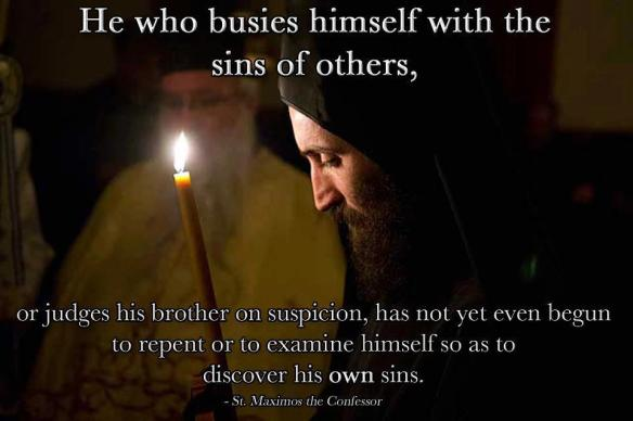 St Maximos the Confessor on judging others
