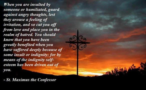 St Maximos the Confessor on bearing insults