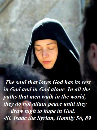 The soul that loves God has its rest in God alone