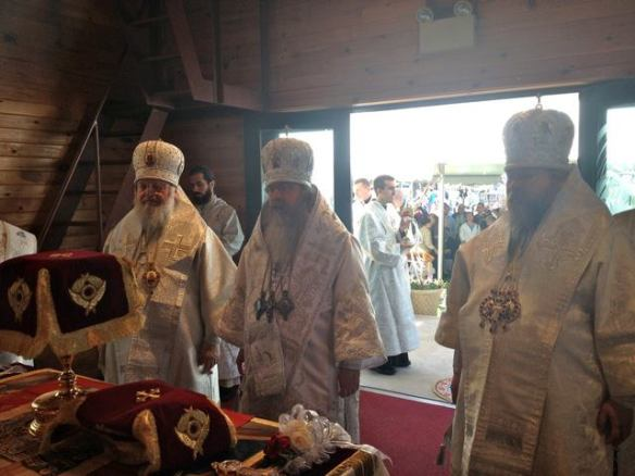 On Monday, May 27, Memorial Day, Metropolitans Tikhon, Jonah and Hilarion concelebrate the Divine Liturgy in the belltower of St Tikhon's Monastery, South Canaan, PA.