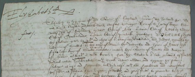 Elizabeth I signature on Mary Queen of Scots death warrant