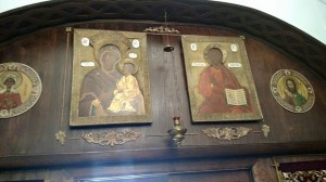 "These icons of the Lord and the Theotokos are originally from Tsarskoye Selo, the ""Tsar's Village"", the residence of the Russian Imperial Family."