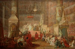 Stefano Torelli's 1777 portrait of the coronation of Catherine II, Tretiakov Gallery.