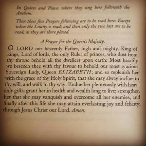 Anglican prayer for the life and reign of HM Queen Elizabeth II.