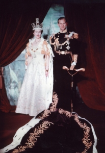 HM Queen Elizabeth and HRH Prince Philip, the Duke of Edinburgh, pictured at her coronation on 2 June 1953.