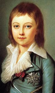 Alexander Kucharsky's portrait of the seven year old Louis Charles, Dauphin of France, in 1792, less than a year before his father Louis XVI's death.