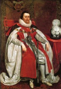 James VI of Scots became King of Scots when he was only thirteen months old following his mother Mary's forced abdication on 24 July 1567. He became King of England on 24 March 1603 following Elizabeth I's death. He reigned until his own death at the age of 58 in March 1625.