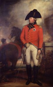 Portrait of King George III in 1799 or 1800 (aged 61 or 62) by British Court Painter Sir William Beechey.
