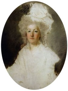Marie Antoinette prisoner in the Temple Tower, attributed to Alexandre Kucharski, ca. 1792. (Private collection)
