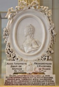 Profile medallion of Marie Antoinette as Archduchess of Austria and Dauphine of France.