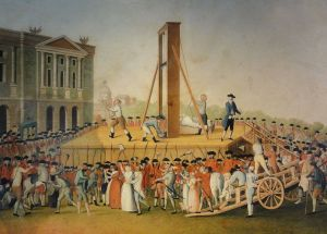 Marie Antoinette's execution, 16 October 1793.