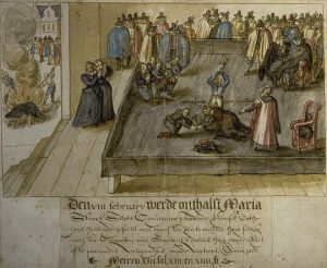 Execution of Mary, Queen of Scots at Fotheringhay Castle, 8:00am February 8, 1587.