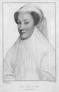 Mary, Queen of Scots pictured in her first widowhood as the dowager Queen of France, 1560.