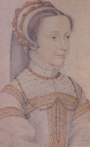 Mary, Queen of Scots painted as a young woman.