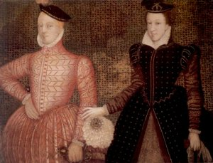 1565 or 1566 painting of Mary, Queen of Scots and her second husband, Henry Stuart, Lord Darnley, King consort of Scots.