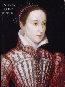 Mary Stuart, Queen of Scots (1542-1587, r. de facto 1542-1567, de jure 1542-1587), Queen consort of France (1559-1560).