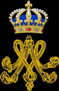 Marie Antoinette's monogram as Queen of France, 1774-1793.