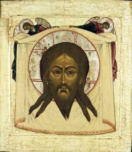 Russian copy, undated, of the Icon of Christ 'Not Made by Hands'.