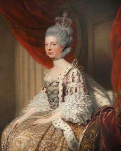 HM Queen Charlotte of the United Kingdom (1744-1818), consort to George III, painted in her older age, c. 1800. (c) National Trust, Hatchlands; Supplied by The Public Catalogue Foundation