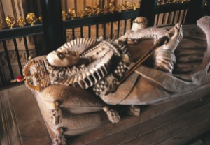James VI and I, successor to both Mary, his mother, and Elizabeth, his mother's killer, had his English predecessor buried below this magnificent marble tomb in Westminster Abbey in 1603.
