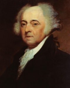 John Adams painted while serving as the second President of the United States (1797-1801) by portraitist Asher B. Durand. Adams served as the United States' first Vice President (1789-1797), Minister to Great Britain (1785-1788), Minister to The Netherlands (1782-1788), and Massachusetts Delegate to the Second Continental Congress (1775-1778). He was also a lawyer.