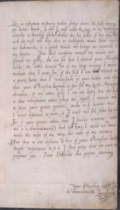 Elizabeth's last known letter to her reigning half-brother King Edward VI.