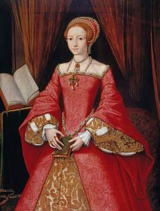 Princess Elizabeth, second daughter of King Henry VIII, painted in about 1546, a year before her father's death and her half-brother's accession as Edward VI. Formerly attributed to William Scrots (fl. 1537–1554).