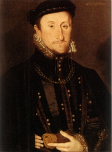 Portrait of James Stewart (Stuart), Earl of Moray, by Hans Eworth. He served as Regent for his half-nephew, James VI, Mary Queen of Scots' son, from her forced abdication in 1567 til his assassination in 1570.