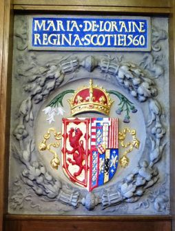 South Leith Parish Church Marie de Guise arms 1560